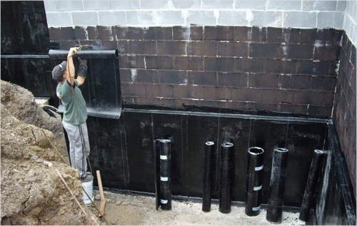 Наклеиваемая гидроизоляция фундамента