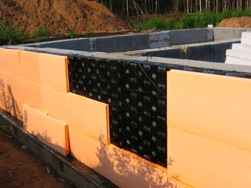 Теплоизоляция фундамента из блоков