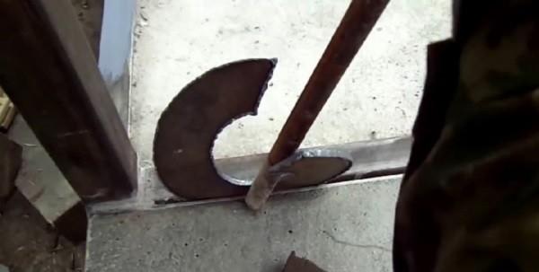 Гибка лопасти сваи