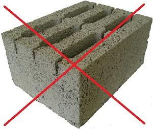 Пустотелый блок 20х20х40