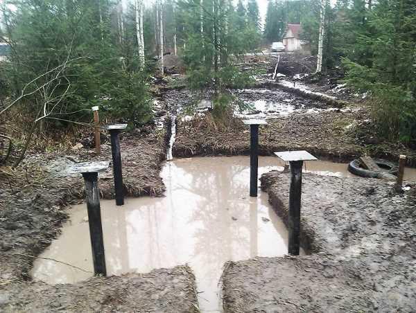 Фундамент на болотистой местности