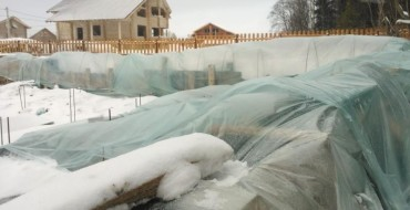 Консервация ленточного фундамента на зиму
