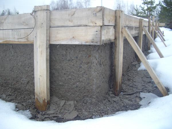 Заливка бетона зимой своими руками 39