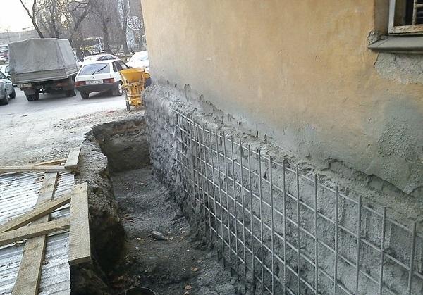 Ремонт кирпичного фундамента кирпичного дома своими руками