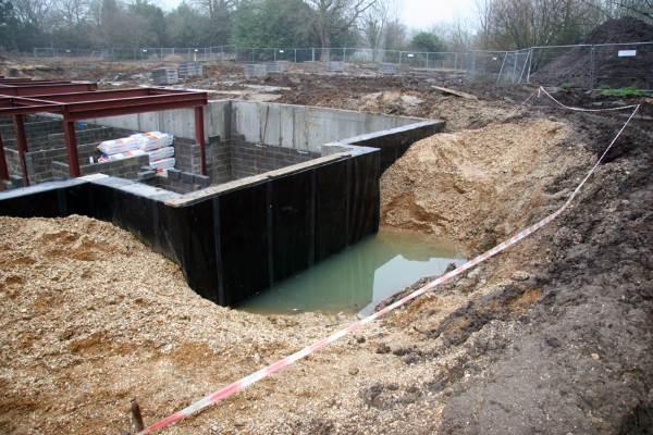 Грунтовые воды близко к фундаменту