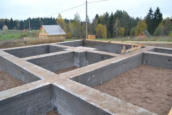 Ленточный фундамент под дом из газосиликатных блоков
