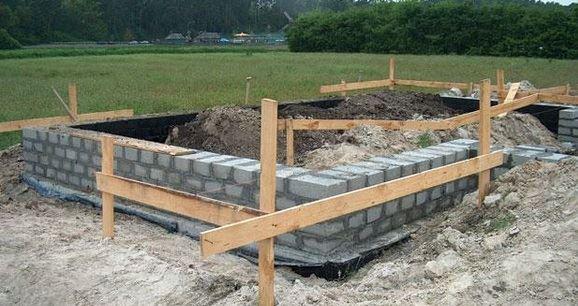 Ленточный фундамент для дома из керамзитобетонных блоков