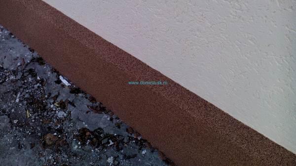 Цоколь по технологии мокрый фасад
