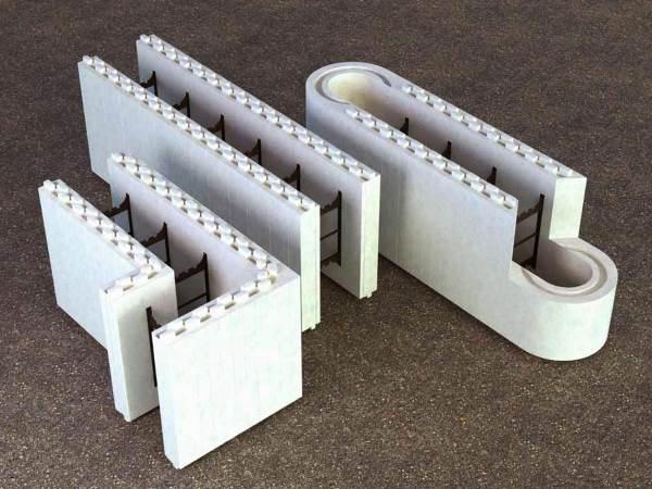 Готовые модули несъемной опалубки из пенопласта