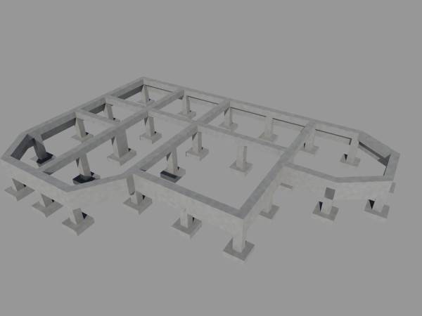 План столбчатого фундамента