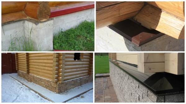 Варианты отливов для деревянного дома