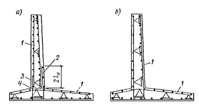 Армирование угла подпорной конструкции