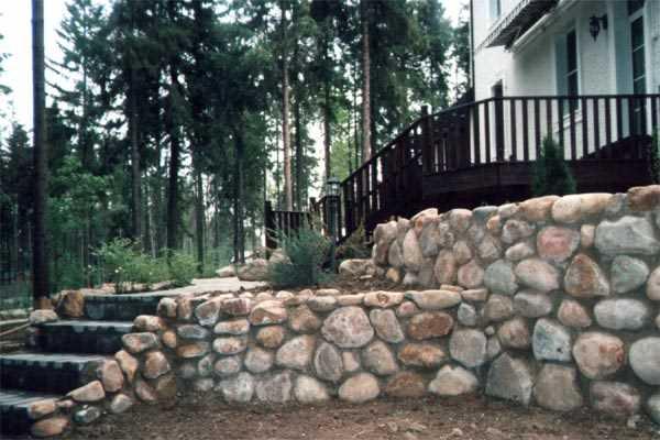 Каменная кладка для террас