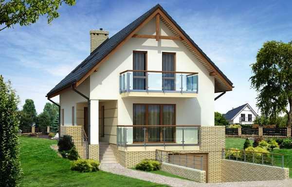 Каркасный дом с цокольным этажом