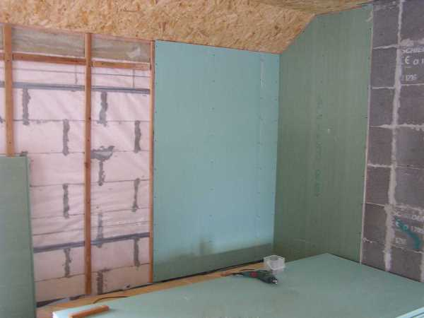 Пароизоляция газобетонных стен изнутри