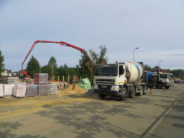 Подача бетона бетононасосом