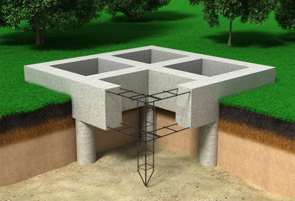 Свайный фундамент на буронабивных сваях