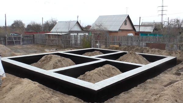 Ленточно-столбчатый фундамент