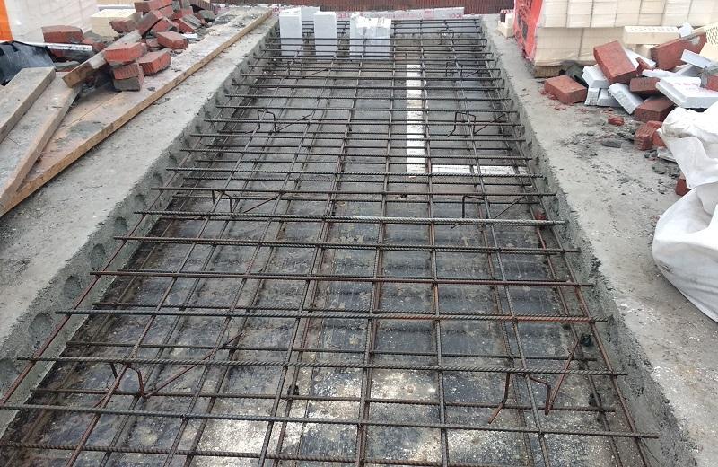 Монолитный участок перекрытия из керамзитобетона водоотливы из бетона